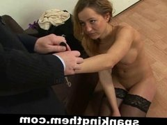 Spanked by angry dominant boss