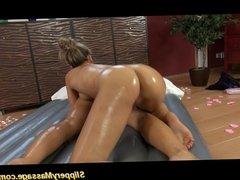 Lesbian babes nuru massage sex fingering pussy hard