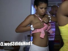Homegrown DOminican Couple sucking her juicy clit