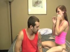 Hot Teen Jerks A Cock On The Bed