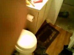 Slut sucks and fucks in the bath room