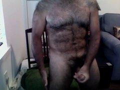 hairy guy strocking