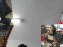 chica en webcam
