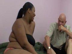 Fat black mamma goes white