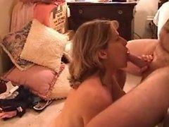 amateur cocksucker cum on big tits