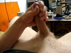 hot guy wanking moaning with cumshot!