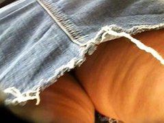 Jean skirt milf