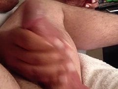 Teasing, edging handjob and big cumshot