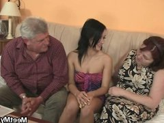 Nasty girl fucking with her BF's parents