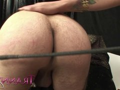 Tranny Art White dude is spanked sucked and fucked