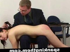 Spanking lesson for bad college girl