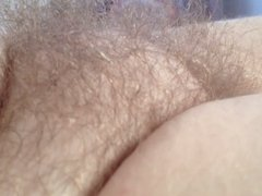 revealing the soft natural hairy bush!!
