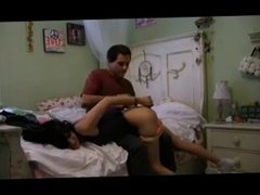 Teen girlfriend gets spanked, gagged, fucked and facial
