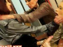 Classy european lesbians crazy for jizz