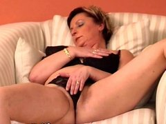Sexy granny has solo sex