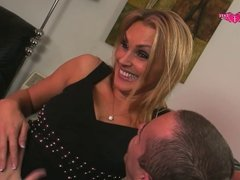 Tanya Tate Gives Andy Mann Blow Job On Lap Dancing Pole
