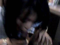 Young teen giving s sensual suck (me)