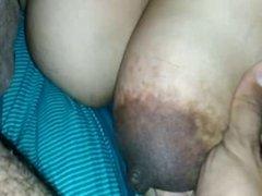 indian wife with big tit black nipple