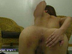 Kristen shows off her cock