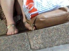 upskirt on girl - black panties