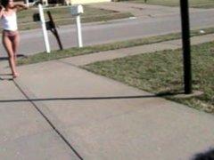 Nikki checking the mail