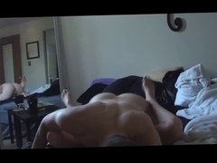Curly haired gf fucks a big dick