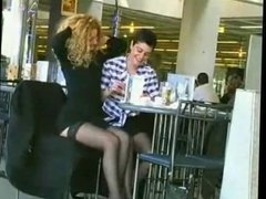 Two Lesbians Waiting at French Airport by TROC