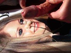 Sperm on Avril Lavigne Part7