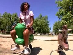Petite Black Teen Student love BBc surprise