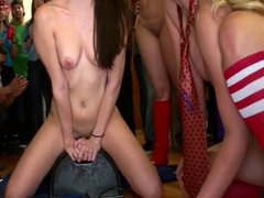 College Girls Take Turns on Sybian at Party