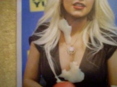 Christina Aguilera big tits cum tribute 1