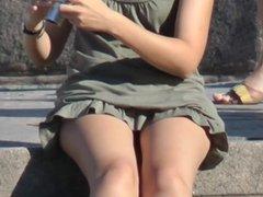 Upskirt Teen Panties On Steps