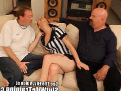 Big tutty wife Juliette has her cuckold husband eat a messy