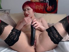 Incredibly hot girl rubs and fucks herself