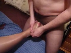 Cum in her nylons