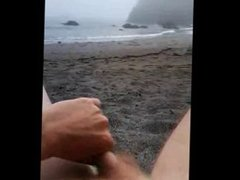 public masturbation on beach