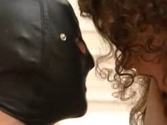 British Slut Nikki Platts gets fucked by a guy in a mask