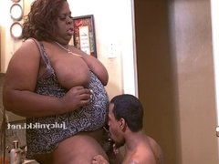 Fat BBW Slutty Shemale & Young Blatino cum swap