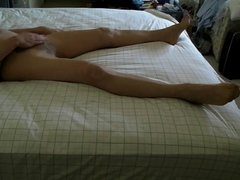 Pantyhose bed hump ............ and cum...heehee