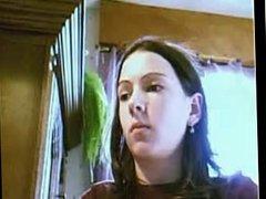 young hairy girl masturbates to webcam
