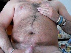 Love wanking my hairy cock
