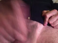 my oiled cock cumming 1