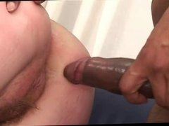 Pale Ruddy Chick Gets Her Hairy Cunt Creampied