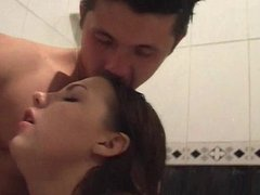 Sweet Brunette Teen Marika Nice Hard Fuck in the Bathroom