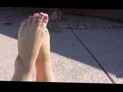 Babe wet feet