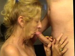 Granny hot suck dick and cum