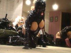 Roxina Cum In Rubber Boots