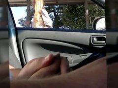 Flashing russian car