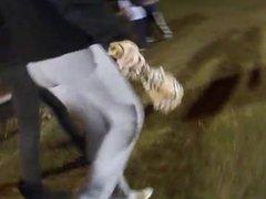 Teen ass at a football game