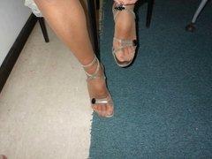 Fantastic pics Milena's nylon Feet!!!!